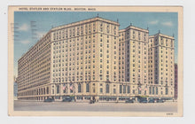 Load image into Gallery viewer, Hotel Statler and Statler Building Boston Massachusetts Postcard 1930's