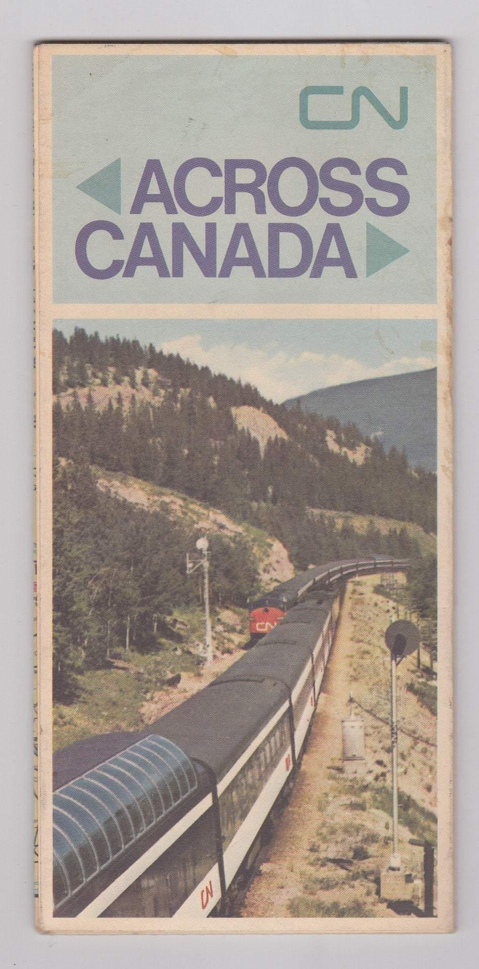 CN Across Canada 1969 Canadian National Railways Railroad Map Brochure