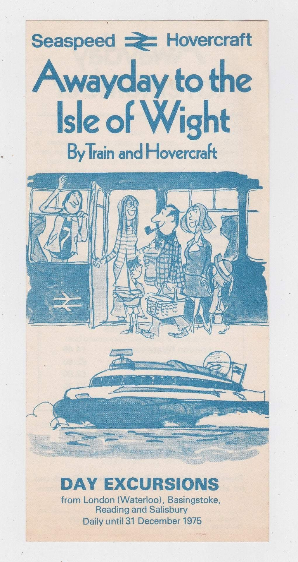 Seaspeed Hovercraft 1975 Isle of Wight Awayday Day Excursions British Rail Brochure