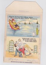 Load image into Gallery viewer, Greetings From A Nut Like Me 1940's Humor Postcard Booklet