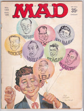 Load image into Gallery viewer, Mad Magazine 122 October 1968 Presidential Election Satire Nixon Wallace LBJ Reagan Humphrey Rockefeller