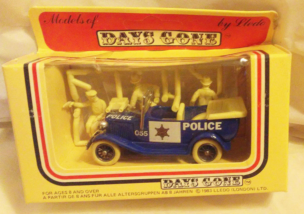 Lledo Days Gone DG9 1934 Ford Model A Police Car Made in England 1984