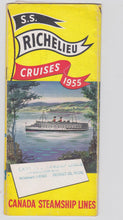 Load image into Gallery viewer, Canada Steamship Lines ss Richelieu 1955 French Canada Cruises Brochure - TulipStuff