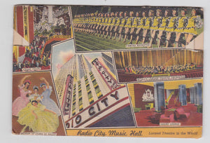 Greetings From Rockefeller Center New York City 1940's Linen Postcard Booklet 18 Views - TulipStuff