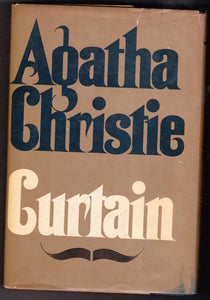 Agatha Christie Curtain Hardcover Hercule Poirot Mystery Novel 1975 - TulipStuff