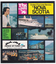 Load image into Gallery viewer, Prince of Fundy Line 1976 Cruise Car Liner Service to Nova Scotia Brochure ms Bolero ms Rince of Fundy - TulipStuff