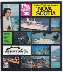 Prince of Fundy Line 1976 Cruise Car Liner Service to Nova Scotia Brochure ms Bolero ms Rince of Fundy - TulipStuff