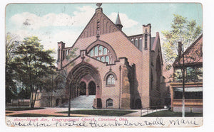Hough Ave Congregational Church Cleveland Ohio 1910's Undivided Back Postcard