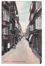 Load image into Gallery viewer, Cadiz  Spain Calle Duque de Tetuin 1910's Vintage Spanish Postcard - TulipStuff