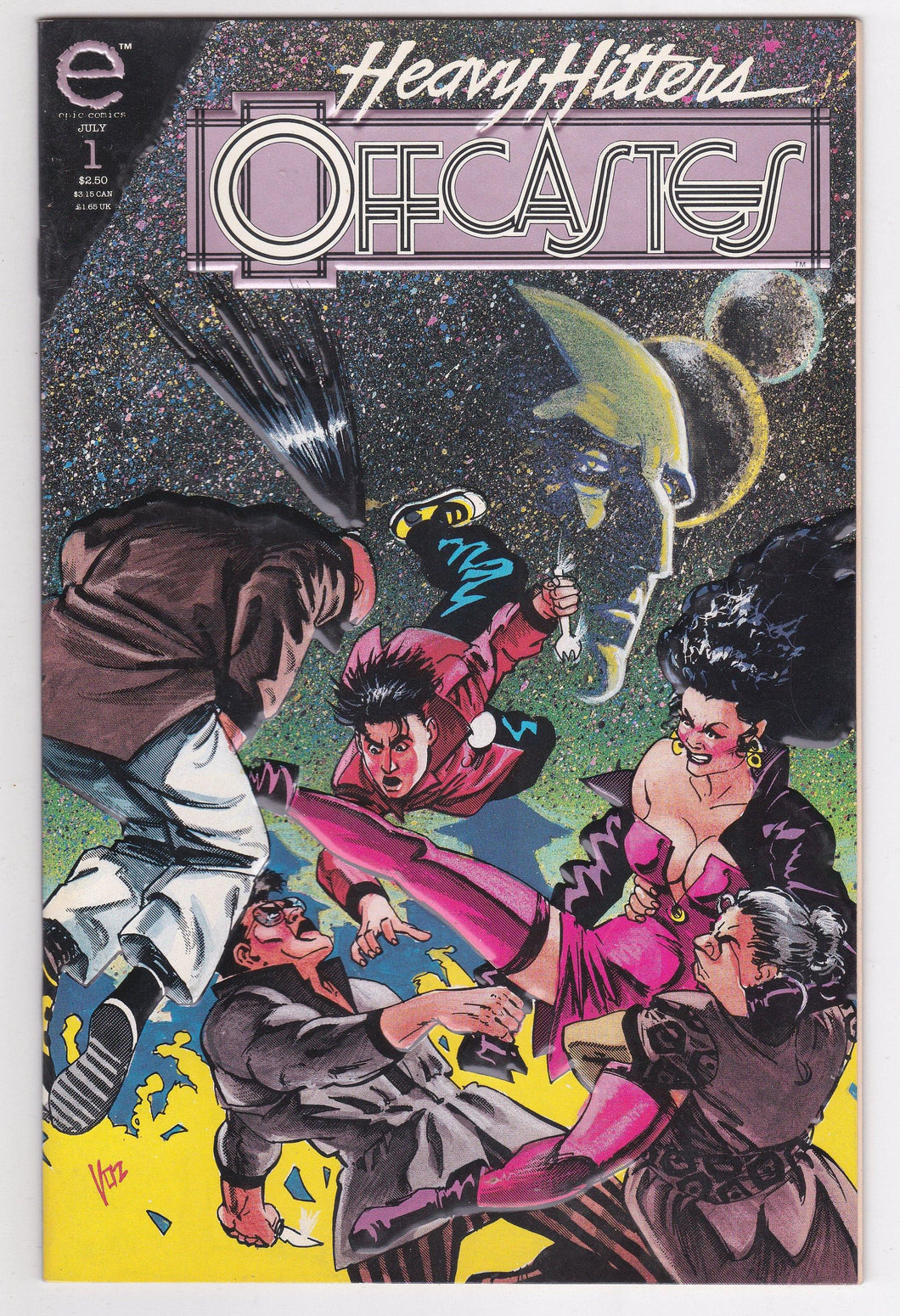 Offcastes Heavy Hitters Issue no 1 Epic Comics July 1993 Comic Book