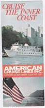 Load image into Gallery viewer, American Cruise Lines 1976 American Eagle Independence Cruise Brochure Haddam Ct East Coast Cruises