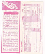 Load image into Gallery viewer, British Columbia Ferries Summer 1974 Schedules and Fares Timetable Brochure Canada