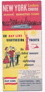 Hudson River Day Line New York Lecture Cruise 1950's Brochure Miss Day Line