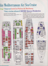 Load image into Gallery viewer, Chandris Lines RHMS Queen Frederica 1974 Mediterranean Air Sea Cruise Brochure