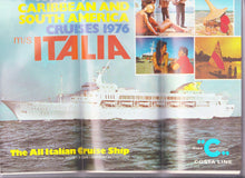 Load image into Gallery viewer, Costa Line ms Italia 1976 Caribbean South America Cruise Brochure