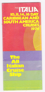 Costa Line ms Italia 1976 Caribbean South America Cruise Brochure