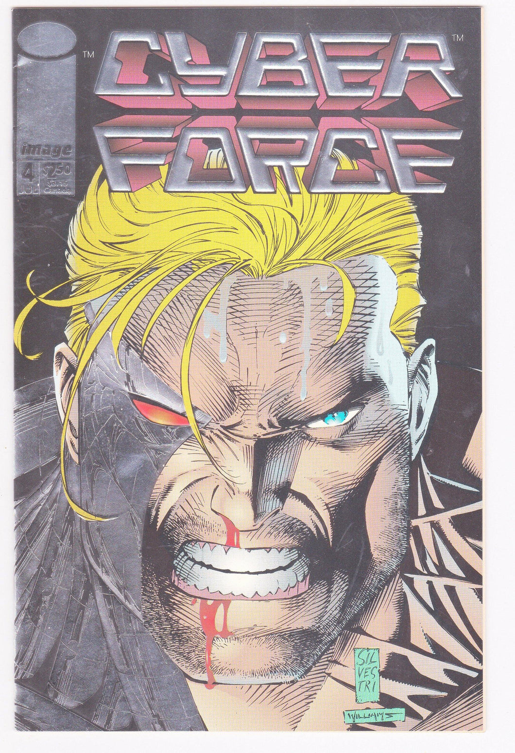 Cyberforce #4 Image Comics July 1993 First Printing Holo-Foil Cover