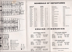 Black Sea Steamship ss Maxim Gorki 1974 Deck Plans Cruise Brochure Soviet Cruise Ship ex Hamburg