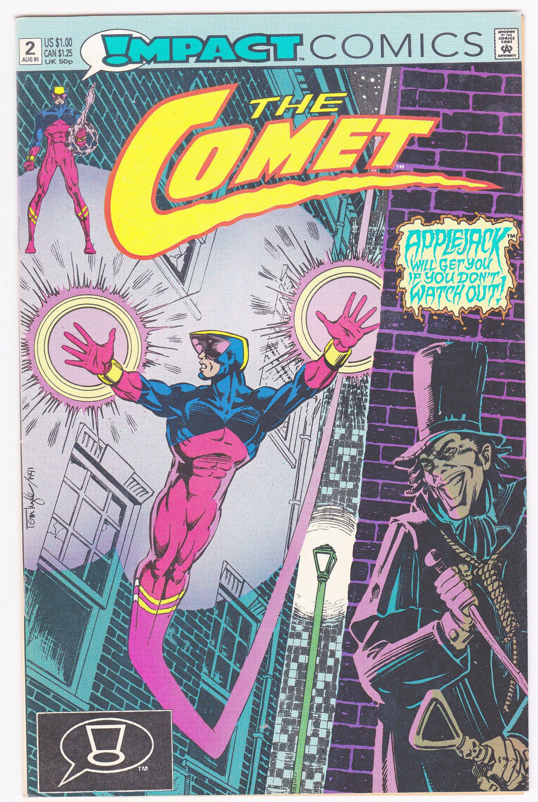The Comet Issue #2 August 1991 Impact Comics Comic Book - TulipStuff