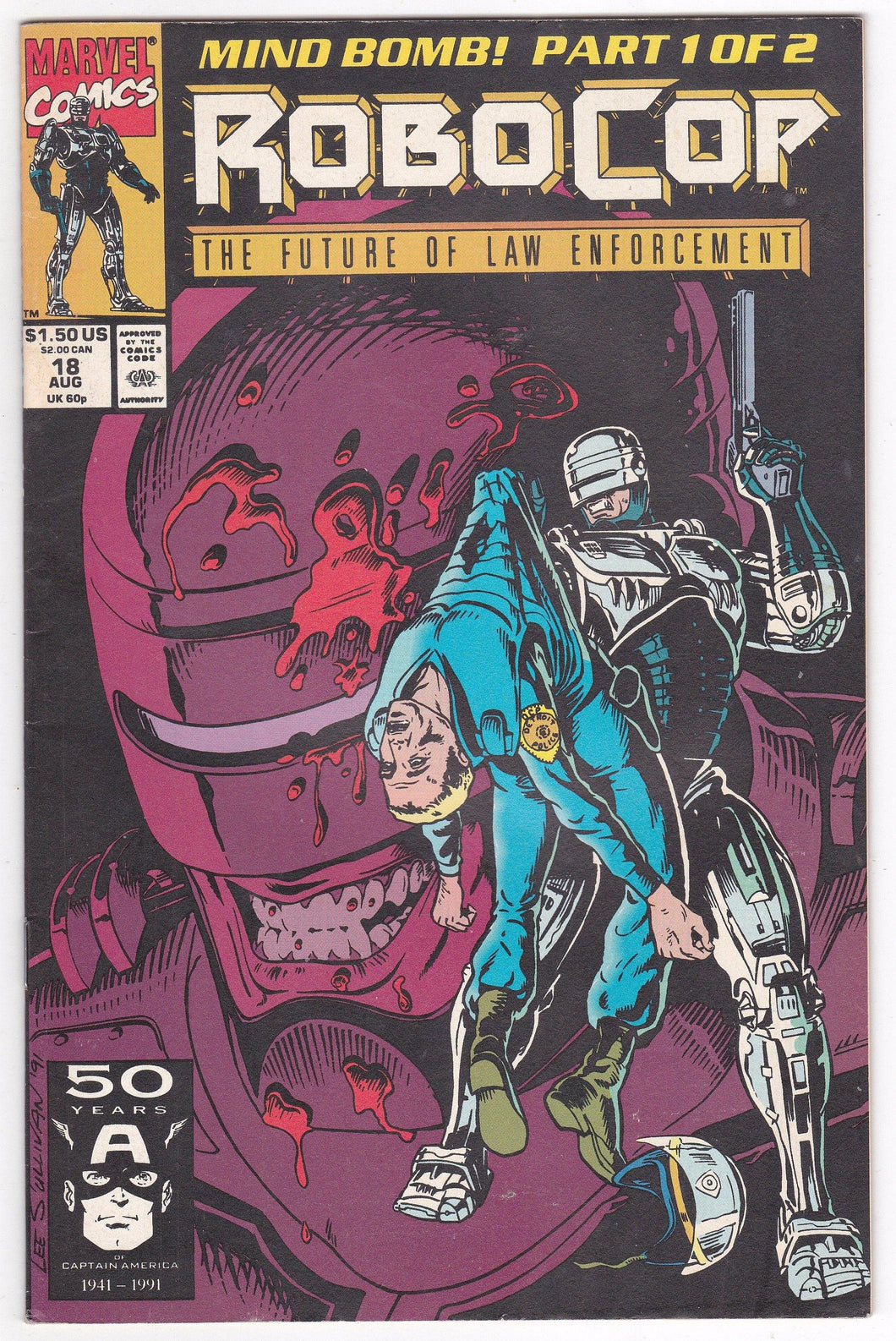Robocop #18 Marvel Comics August 1991 Comic Book