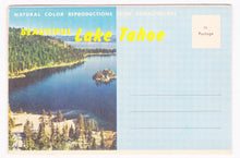 Load image into Gallery viewer, Beautiful Lake Tahoe 1950's Souvenir Postcard Folder - TulipStuff