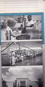 Upjohn Factory 1960's Tour Souvenir Folder 16 Views Kalamazoo Michigan