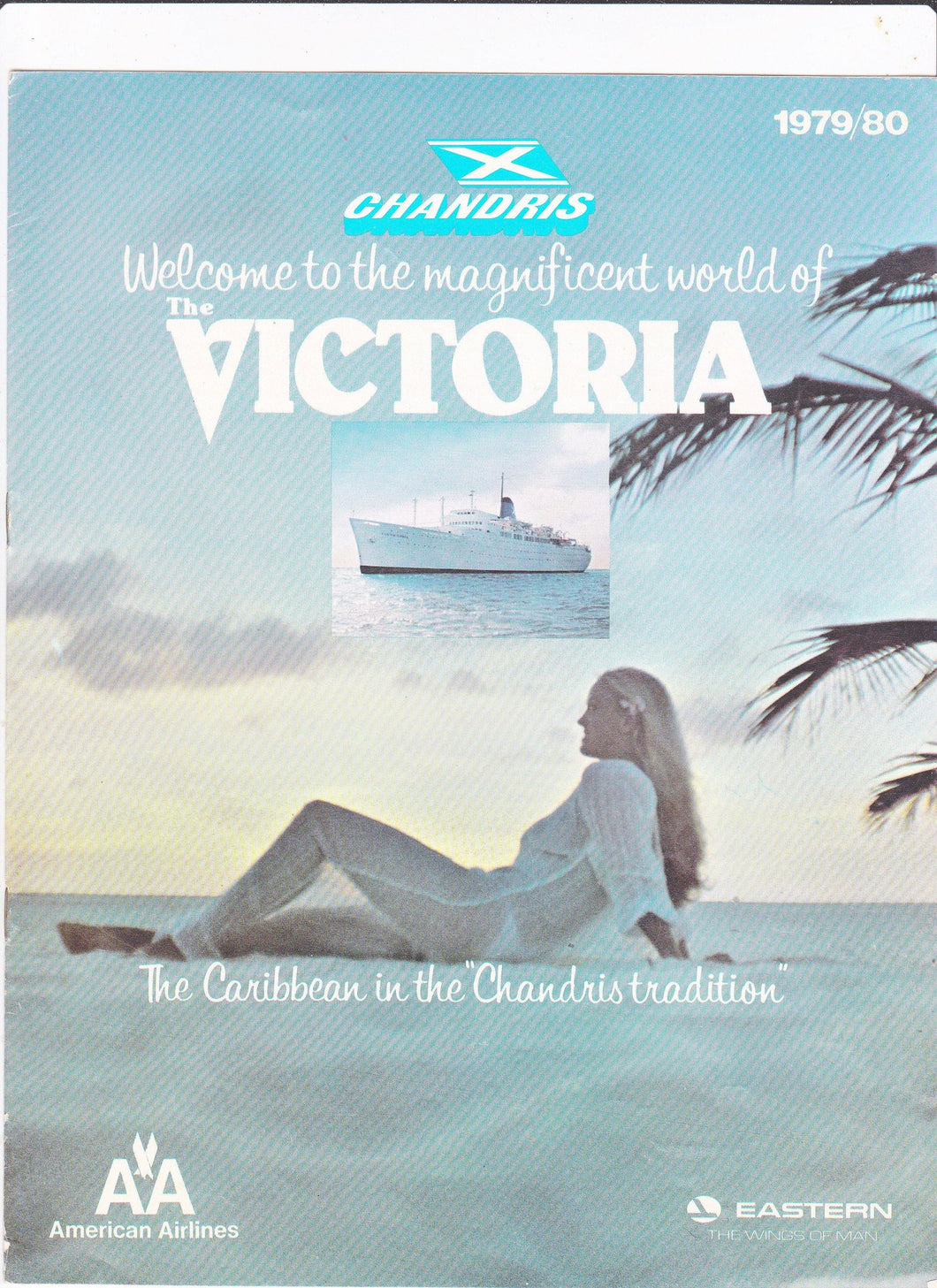 Chandris Cruises The Victoria 1979/80 Caribbean Cruises Brochure