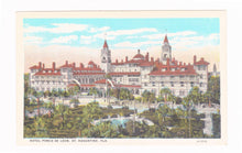 Load image into Gallery viewer, Hotel Ponce de Leon St Augustine Florida 1930's Postcard
