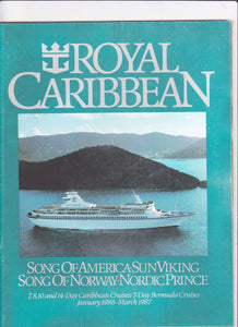 Royal Caribbean Cruise Line 1986-87 Caribbean Bermuda Brochure Sun Viking Nordic Prince Song of Norway Song of America