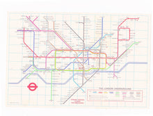 Load image into Gallery viewer, London Transport Underground Map and Tube Station Index Pocket Map 1974 No 1 - TulipStuff