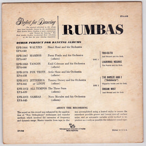 Rumbas 45rpm RCA Victor EPA-648 1955 Perfect for Dancing Fred Astaire Studios