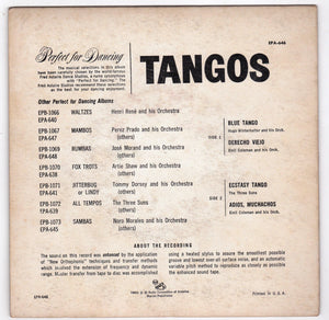 Tangos 45rpm RCA Victor EPA-646 1955 Perfect for Dancing Fred Astaire Studios - TulipStuff