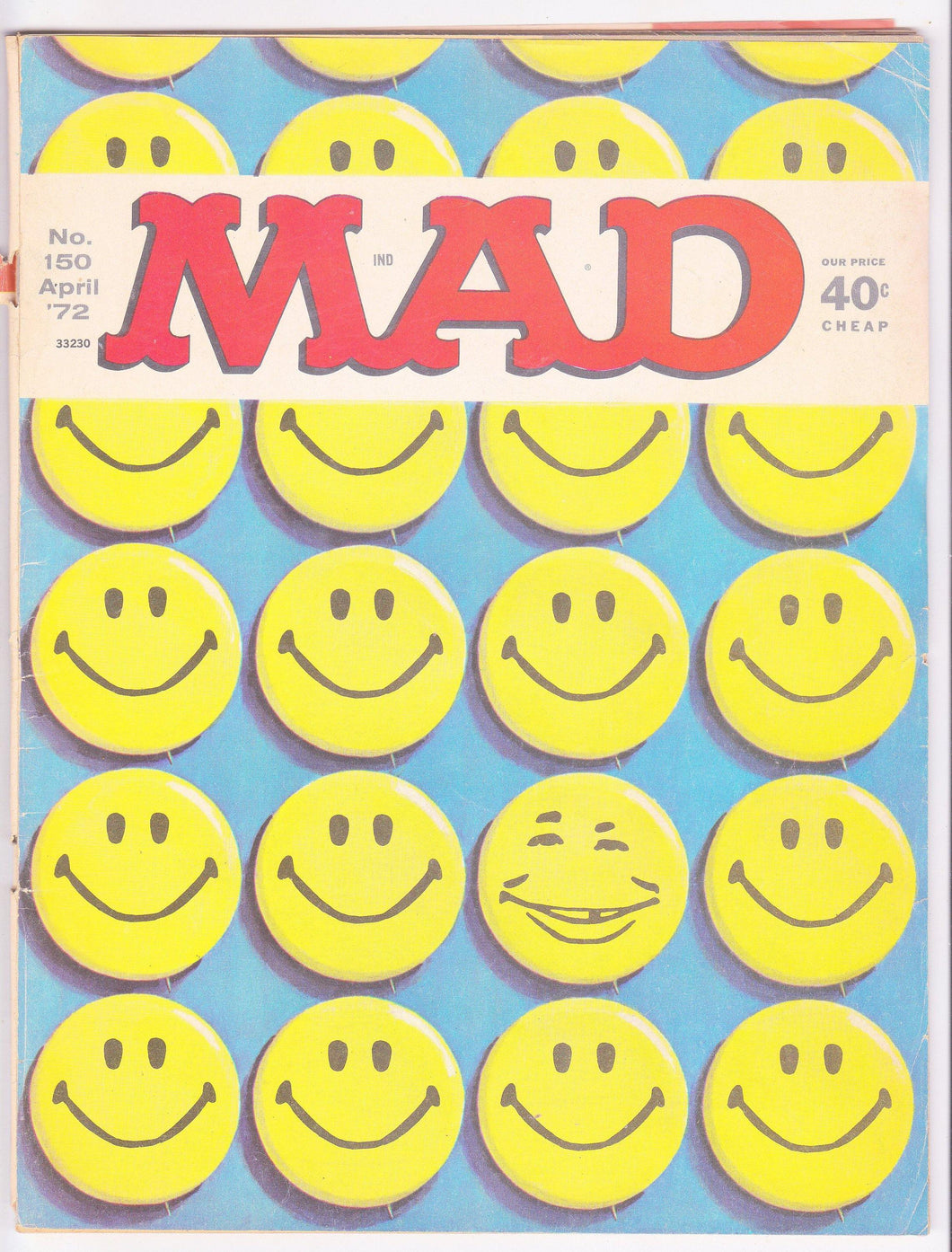 Mad Magazine 150 April 1972 Nixon White House 1972 Election Partridge Family Howard Cosell - TulipStuff