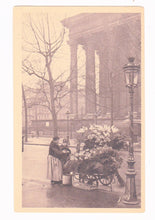 Load image into Gallery viewer, Marchaude de Fleurs Place de la Madelaine Flower Merchant Paris France Postcard 1920's