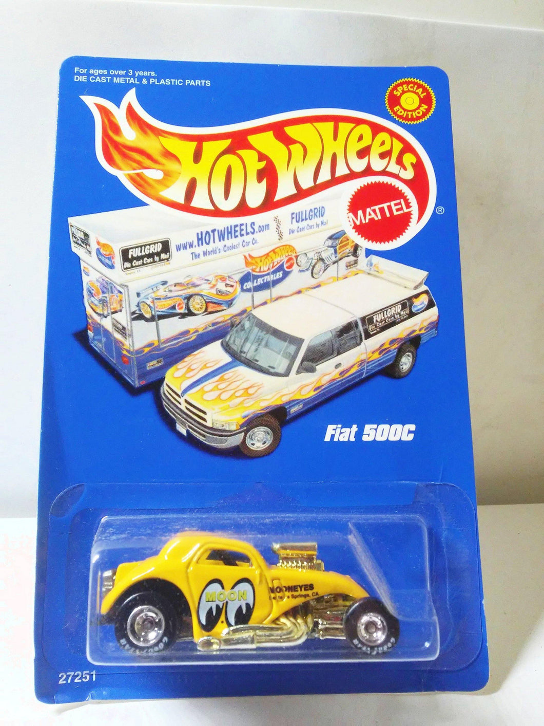 Hot Wheels 27251 Mooneyes Fiat 500C Limited Edition Full Grid Racing Series 2000