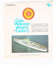Load image into Gallery viewer, Costa Line Carla C. 1973-74 Caribbean Cruises Cruise Ship Brochure