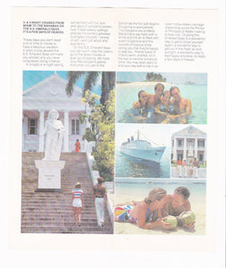 Eastern Cruise Lines ss Emerald Seas 1981-1982 Bahamas Cruises Brochure