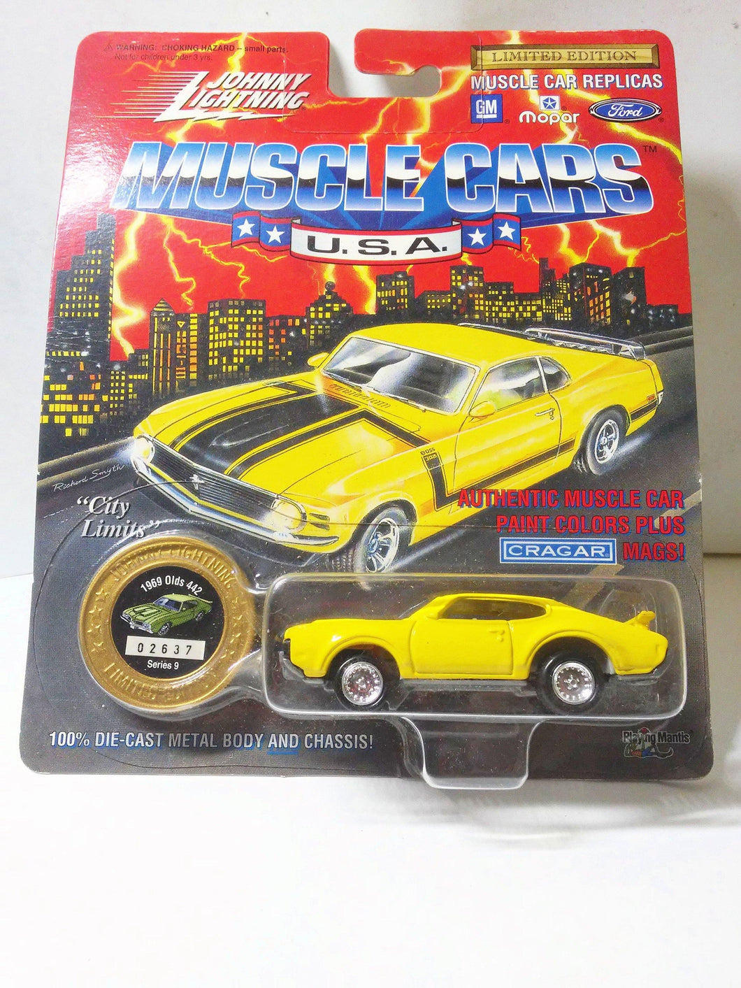 Johnny Lightning Muscle Cars USA 1969 Olds 442 Series 9 Limited Edition Made in 1995