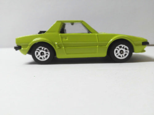 Corgi Juniors 86-A1 Fiat X1/9 Green Body Black Interior Whizzwheels Made in Great Britain 1974 - TulipStuff
