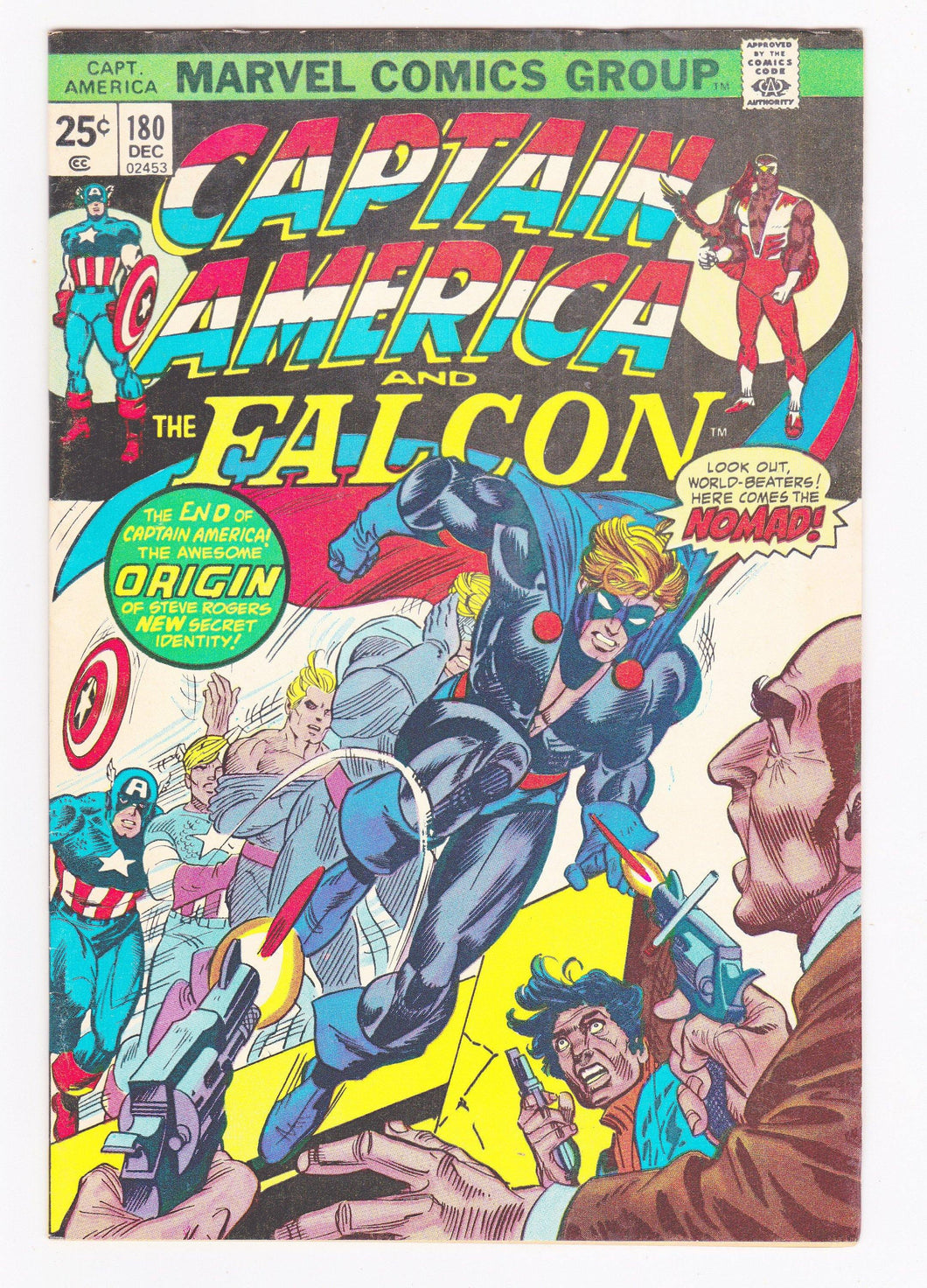 Captain America and the Falcon 180 December 1974 1st Nomad Appearance Marvel Comics
