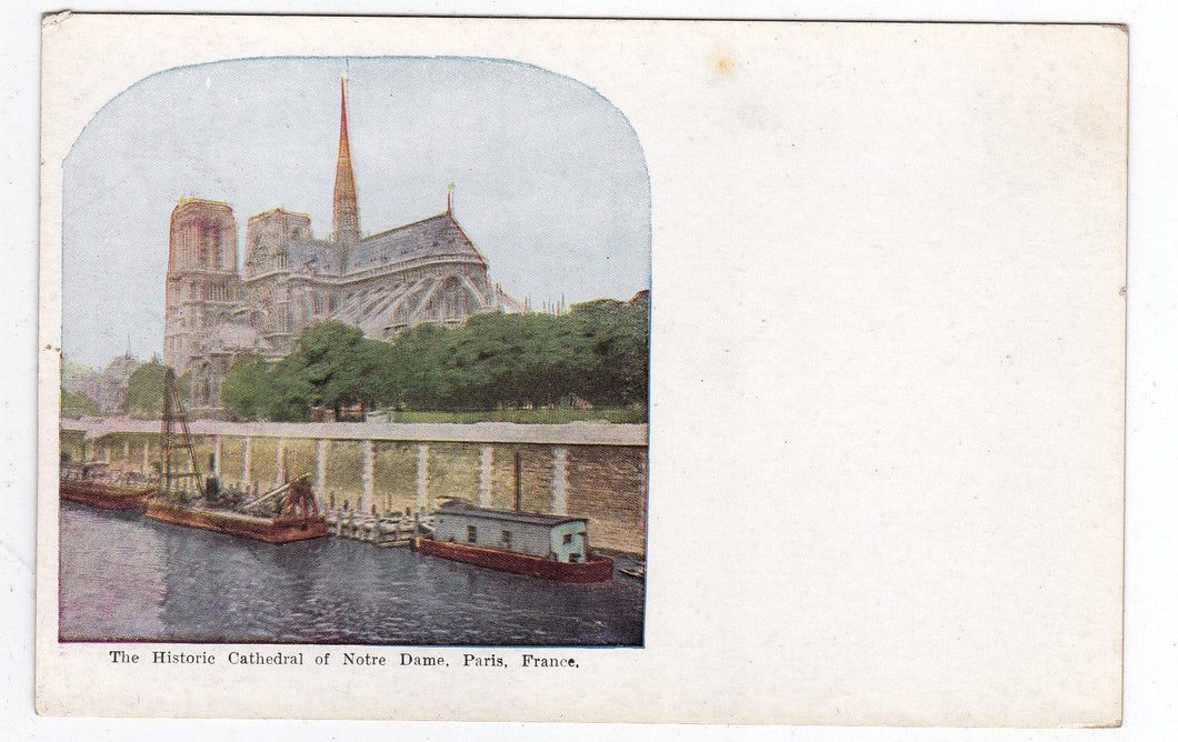 The Historic Cathedral of Notre Dame Paris France 1900's Postcard