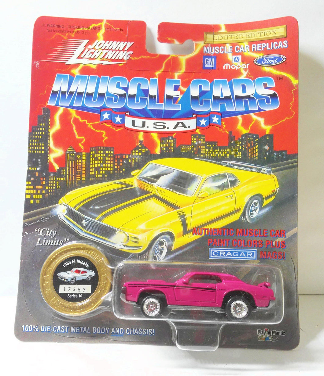 Johnny Lightning Muscle Cars USA 1969 Mercury Cougar Eliminator Limited Edition Made in 1995