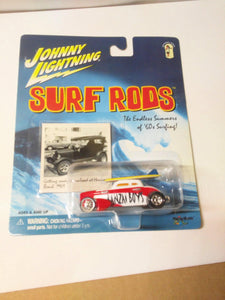 Johnny Lightning  Surf Rods Banzai Boys #758 Speed Coupe Diecast Carwith Surfboards 2000 - TulipStuff
