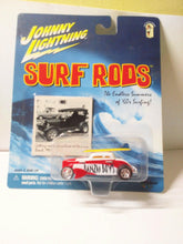 Load image into Gallery viewer, Johnny Lightning  Surf Rods Banzai Boys #758 Speed Coupe Diecast Carwith Surfboards 2000 - TulipStuff