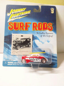 Johnny Lightning  Surf Rods Banzai Boys #758 Speed Coupe Diecast Carwith Surfboards 2000