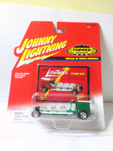 Johnny Lightning Topper Series Flame Out Fire Engine Diecast Metal Toy 2000 - TulipStuff