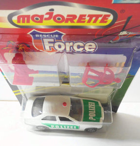 Majorette 257 Rescue Force Polizei BMW 325i Vintage Diecast Police Car 1999