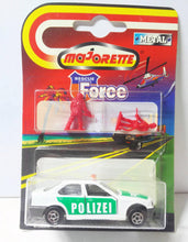 Load image into Gallery viewer, Majorette 257 Rescue Force Polizei BMW 325i Vintage Diecast Police Car 1999