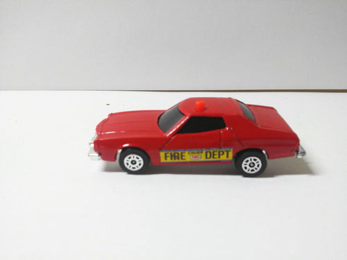 Corgi Juniors 70-C Ford Gran Torino Fire Chief Car Made in Great Britain 1977 - TulipStuff
