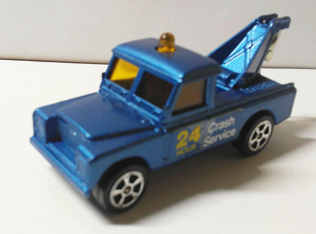 Corgi Juniors 31-B Land Rover Wrecker Tow Truck Made in Great Britain 1976